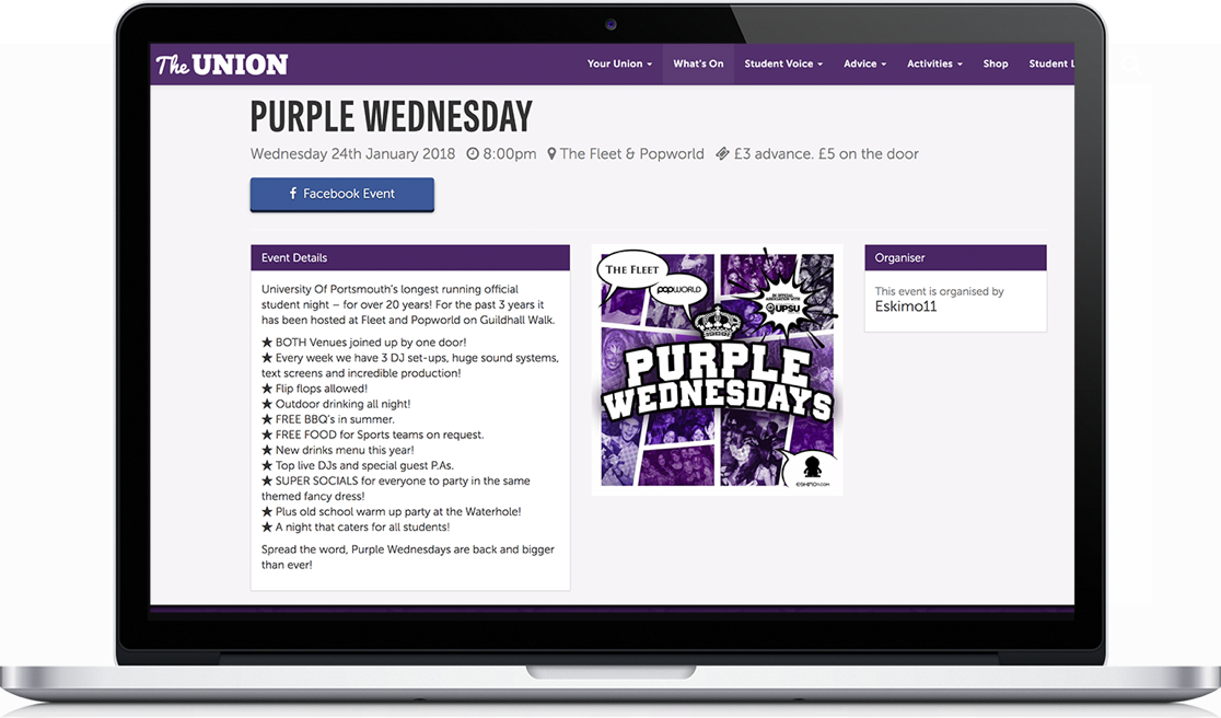The University of Portsmouth Students' Union Macbook
