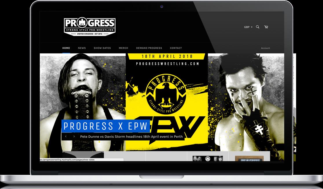 Progress Wrestling Macbook